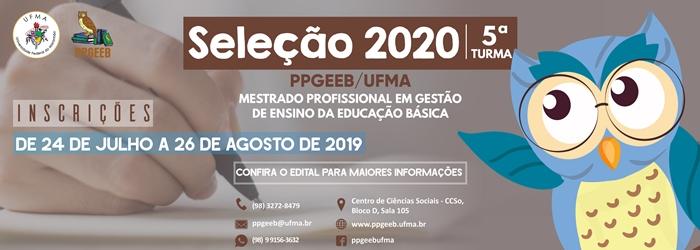 Banner Seleção PPGEEB 2020