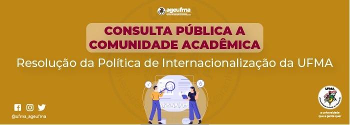 Consulta pública aos docentes da UFMA sobre a Resolução da Política de Internacionalização