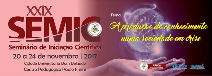 Vem aí a XXIX edição do Seminário de Iniciação Científica - SEMIC