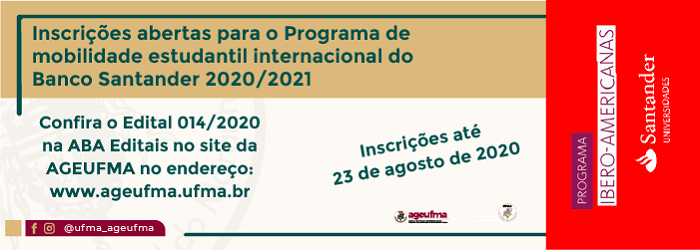 bolsa do programa Ibero-Americanas 2020/2021 do banco SANTANDER