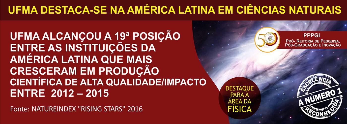 Destaque na América Latina em Ciências Naturais