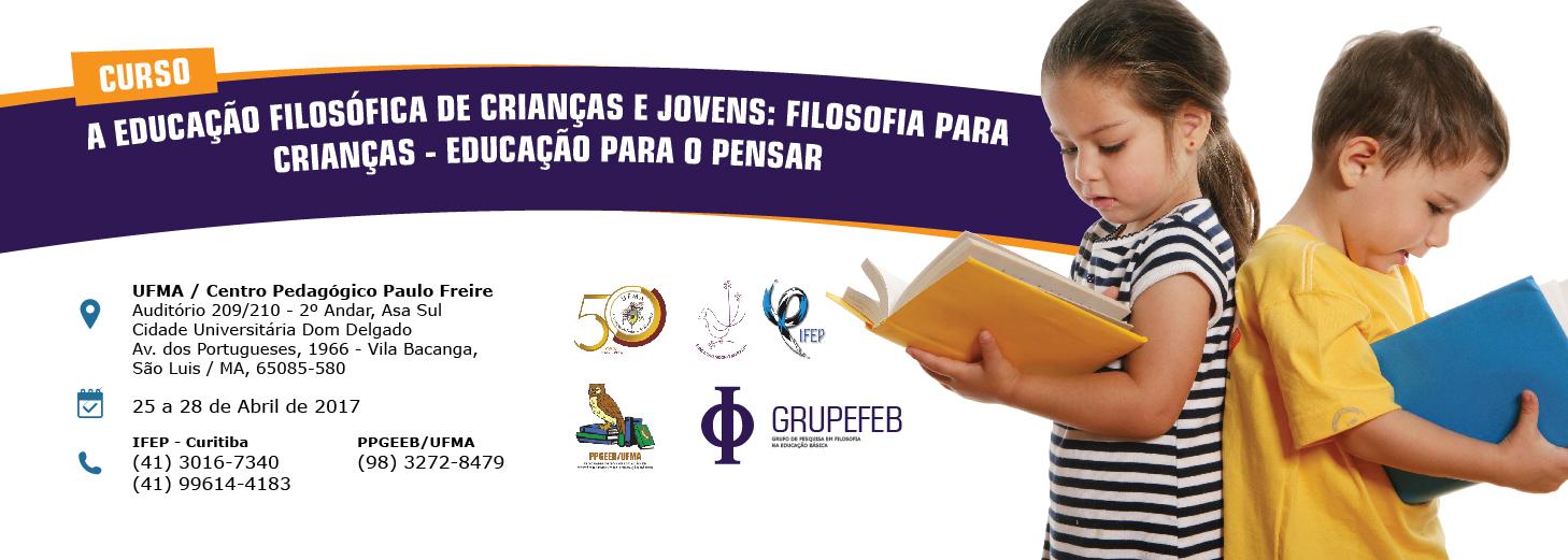 Curso de educação filosófica de criança e jovens será realizado na UFMA