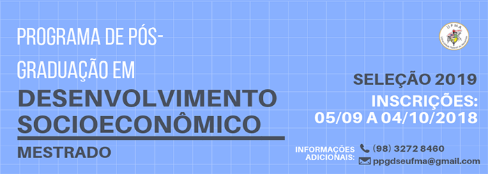 Mestrado Desenvolvimento Socioeconômico