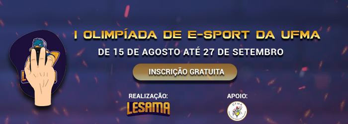 Inscrições abertas para a 1ª Olimpíada de E-sports que ocorre entre agosto e setembro