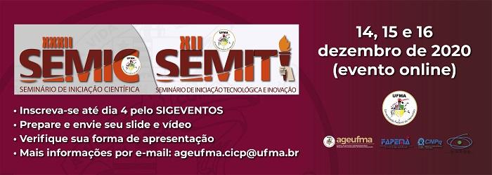 Conheça a dinâmica das apresentações do formato online do SEMIC e SEMITI 2020
