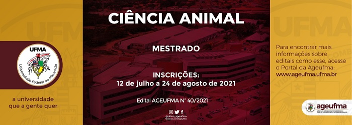 Programa de Pós-graduação em Ciência Animal publica edital com 10 vagas para mestrado