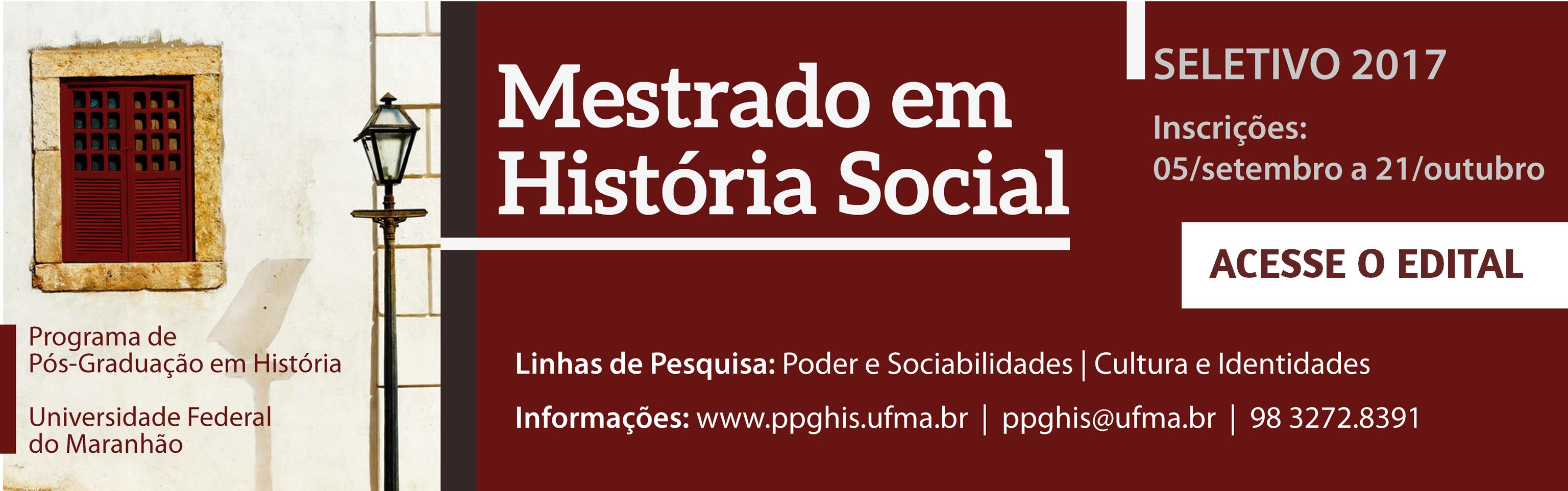 Mestrado em História Social