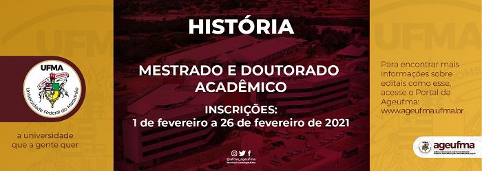Programa de Pós-graduação em História abre inscrições para Mestrado e Doutorado