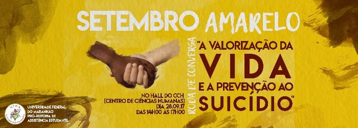 """PROAES convida para dialogar sobre o """"Setembro Amarelo"""""""