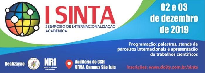 I SINTA - SIMPÓSIO DE INTERNACIONALIZAÇÃO ACADÊMICA