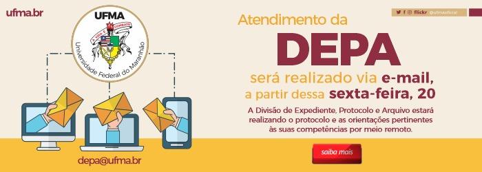 Atendimento da DEPA será realizado via e-mail, a partir dessa sexta-feira, 20