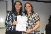 Entrega do termo de posse à nova coordenadora do Ensino Fundamental, Carolina da Silva - Foto por: Sansão Hortegal
